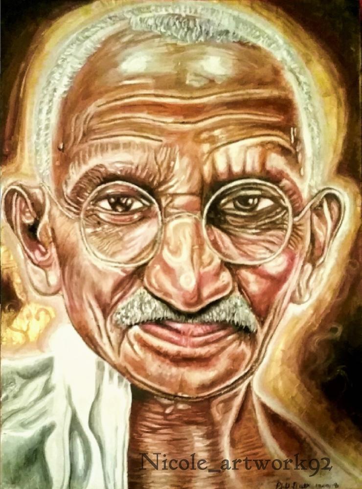 Mahatma Gandhi by NicoleBoo